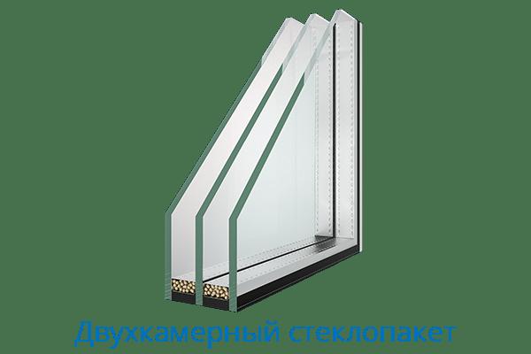 Евроокна Двухкамерный стеклопакет