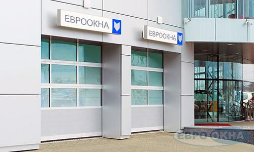 Евроокна - Типы полотен панорамных ворот