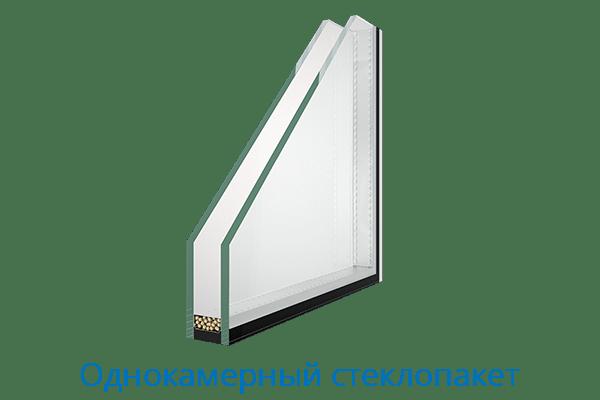 Евроокна Однокамерный стеклопакет